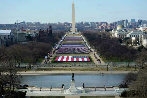 A view of the National Mall in Washington, Tuesday, Jan. 19, 2021, ahead of the 59th Presidential Inauguration on Wednesday. Photo: Susan Walsh, AP / Copyright 2021 The Associated Press. All rights reserved.