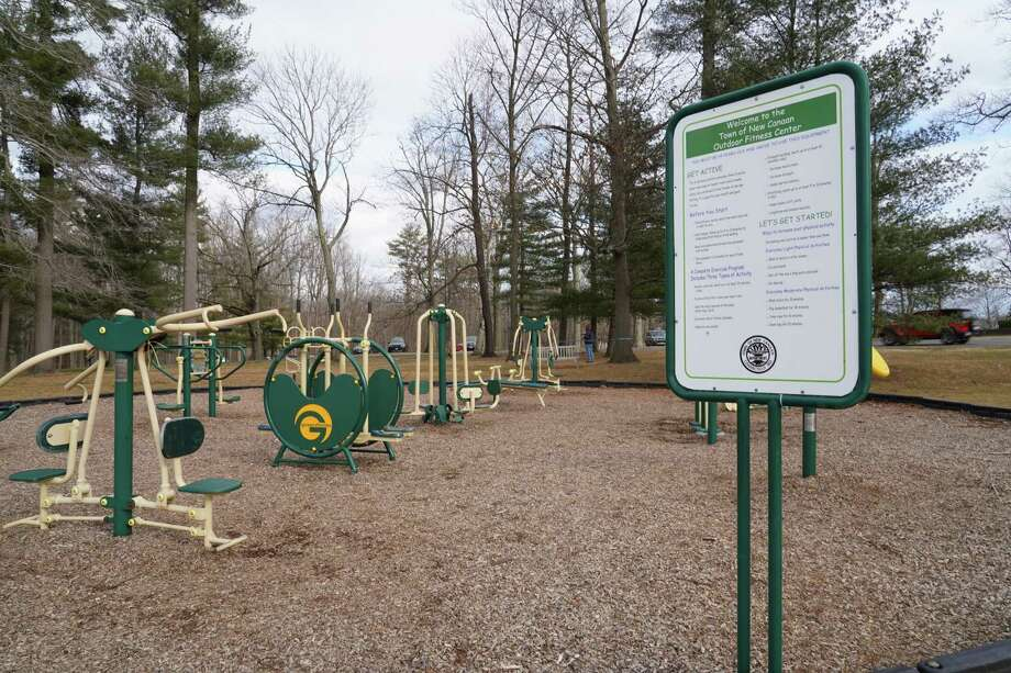 Parks Department Superintendent John Howe recently told the New Canaan Parks and Recreation Commission that he would like to see money in the 2021-22 capital budget for a new playground, and updated adult fitness equipment for Waveny Park. He suggested a two-part playground to the commission for the 350-acre park at 677 South Ave. Photo: Grace Duffield / Hearst Connecticut Media