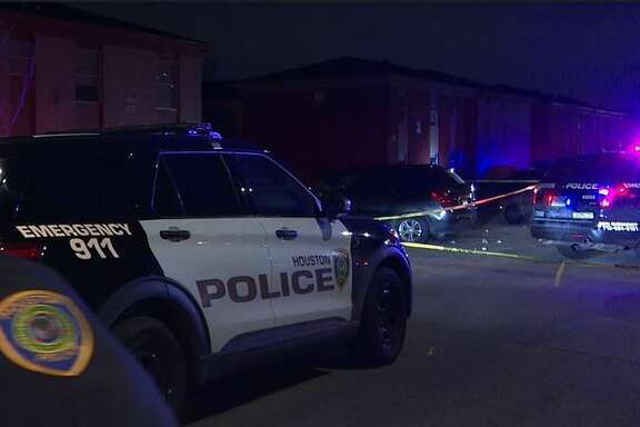 Police investigate a shooting of a teen that occurred Tuesday night at in south Houston during a vigil.