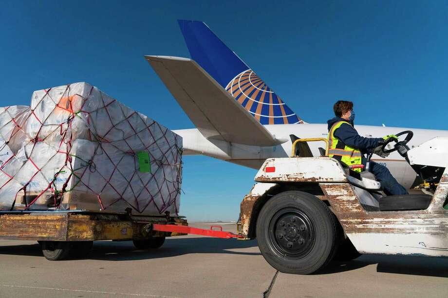 Pfizer vaccines from Belgium are unloaded in Chicago last month. Credit the miracle of rapid vaccine development to central government planning. Photo: United Airlines / United Airlines