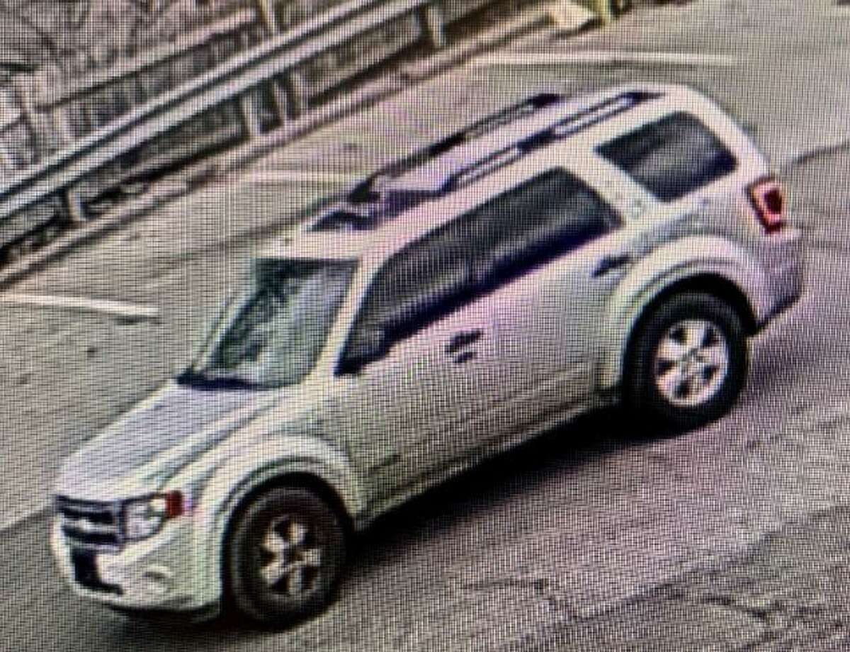 A picture of the car suspected of being used in Tuesday's theft.
