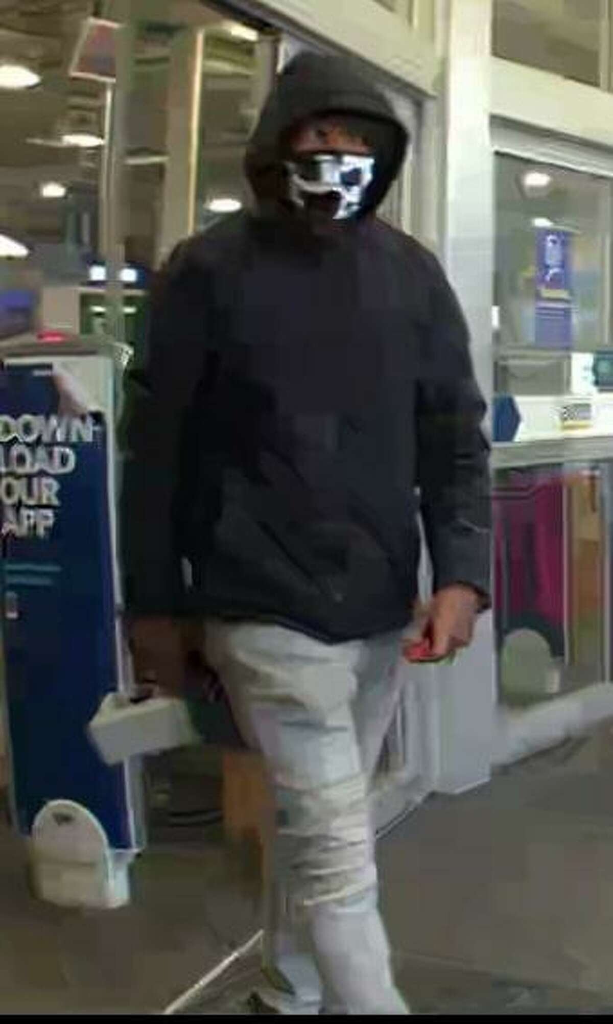 Police said the man pictured is their prime suspect in Tuesday's theft.