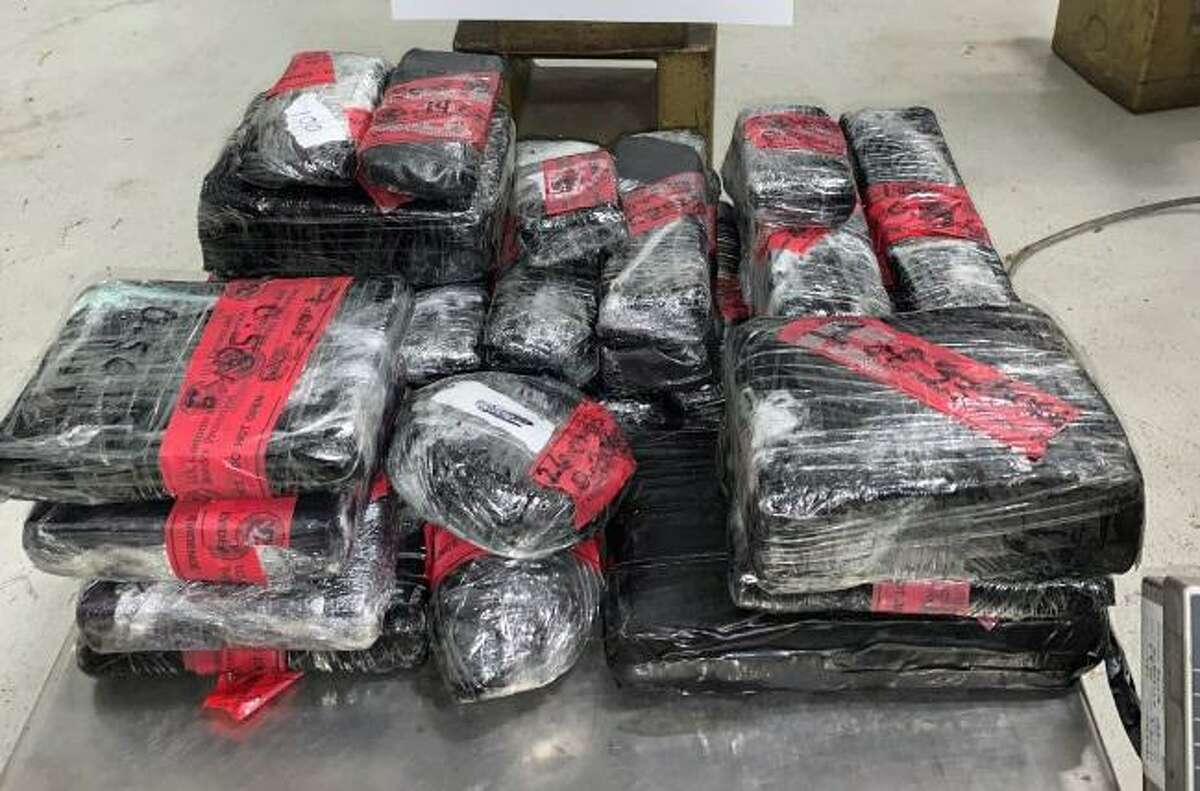 U.S. Customs and Border Protection officers seized these 28.92 pounds of heroin at the Juarez-Lincoln International Bridge on Jan. 16. The contraband had an estimated street value of $656,000.