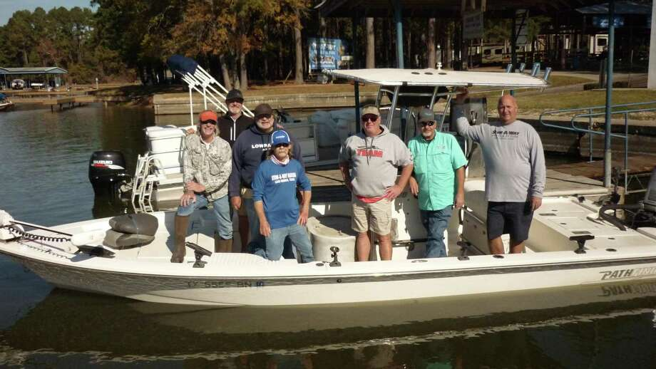 The fishing guides and volunteers who participated in the crappie stocking project are: Richard Tatsch, LaMarr Anderson, Mike Schneider, James Tucker, Mark Meeker, Johnny Heneke and Vince Anderson. Photo: Stow-A-Way Marina