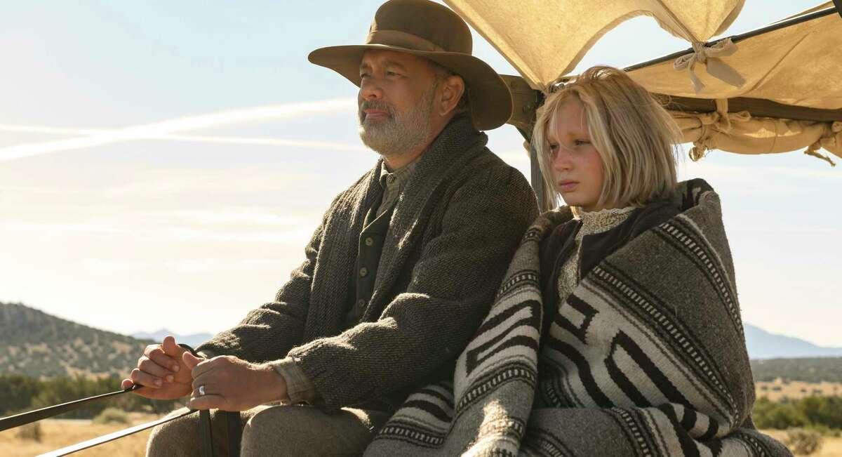 "Tom Hanks and Helena Zengel star in ""News of the World."""