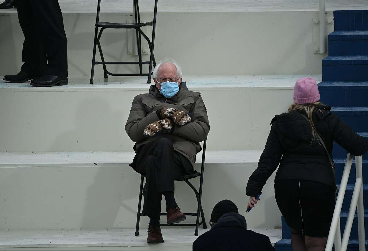 Former presidential candidate, Senator Bernie Sanders (D-Vermont) sits in the bleachers on Capitol Hill before Joe Biden is sworn in as the 46th US President on January 20, 2021, at the US Capitol in Washington, DC. Dressed in a brown Burton jacket and mittens made by a Vermont artisan, Sanders quickly became the talk of the town - even Vogue profiled his look. But it wasn't just his casual outfit that caught people's attention. One image, in particular, of Sanders huddled up in a folding chair captured the hearts of meme-makers everywhere. Suddenly, Sanders was being Photoshopped into all sorts of scenarios. Jumping on that bandwagon, here are some photos depicting what it would look like if Sanders were to bring his chair and cozy mittens to Connecticut.