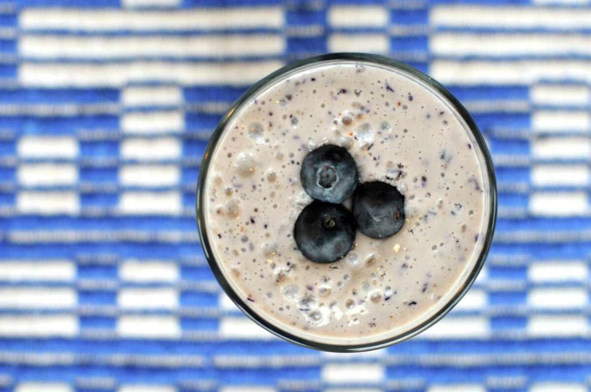 Dairy-Free Blueberry Tofu Smoothie