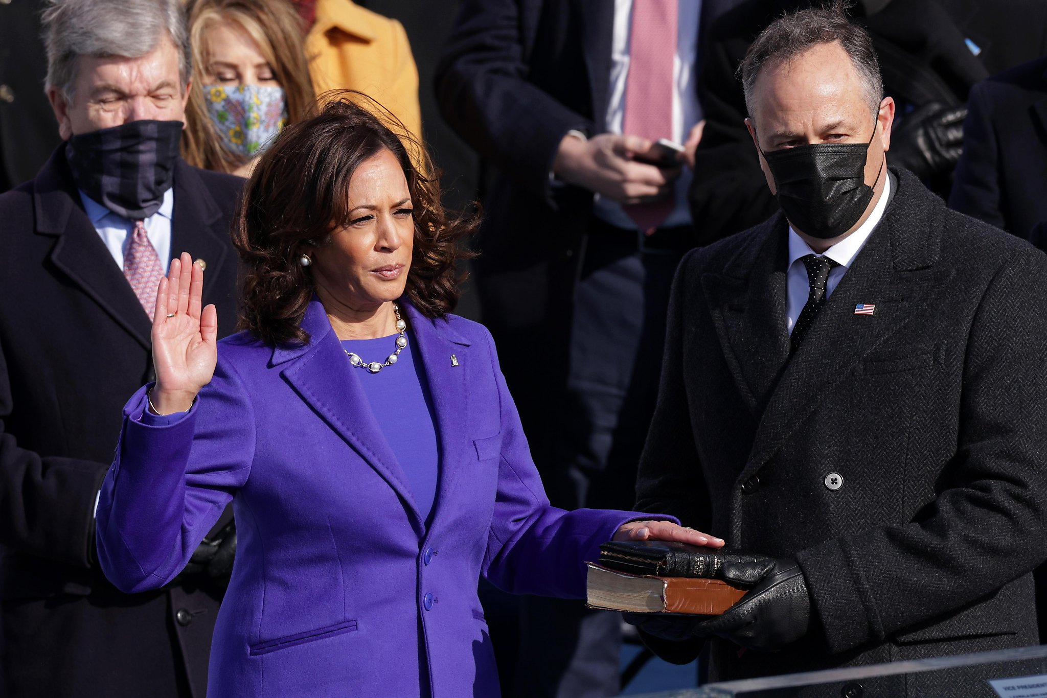 This image of Kamala Harris getting sworn in is one for the history books