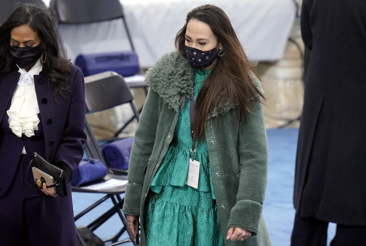 Meena Harris, niece of Vice President-elect Kamala Harris, arrives the inauguration of U.S. President-elect Joe Biden on the West Front of the U.S. Capitol on January 20, 2021 in Washington, DC. (Photo by Drew Angerer/Getty Images)