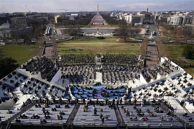 Guests and spectators attend the 59th Presidential Inauguration for President Joe Biden at the U.S. Capitol in Washington, Wednesday, Jan. 20, 2021. Photo: Susan Walsh, Associated Press