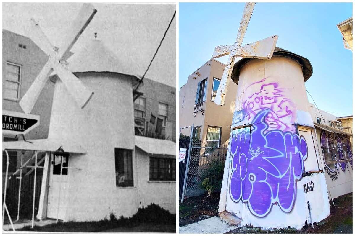 5977 Telegraph Ave., Oakland, Calif., circa 1966 and 2021.