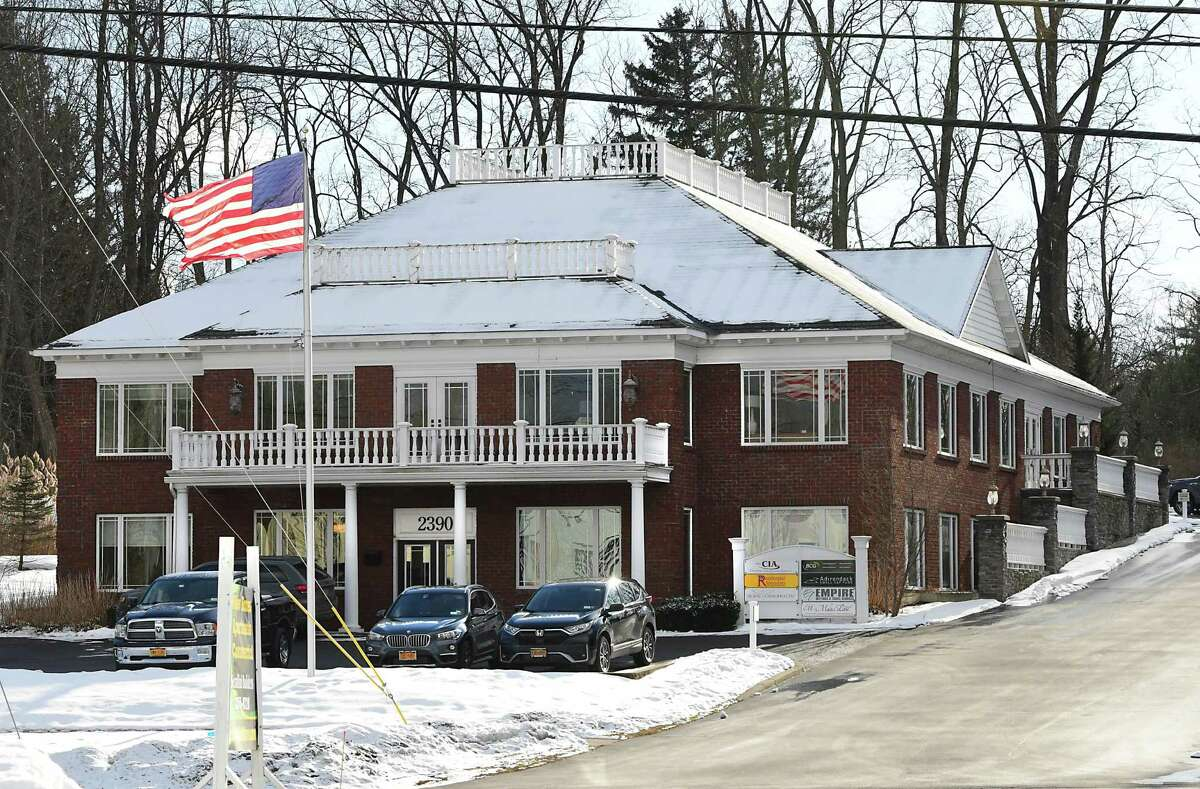 Exterior of the front of the building at 2390 Western Ave. on Wednesday, Jan. 20, 2021 in Guilderland, N.Y. (Lori Van Buren/Times Union)