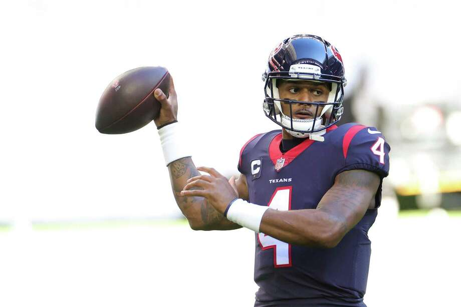Deshaun Watson led the NFL with 4,823 passing yards and 8.9 yards per attempt this season. Photo: Carmen Mandato /Getty Images / 2021 Getty Images 2021 Getty Images