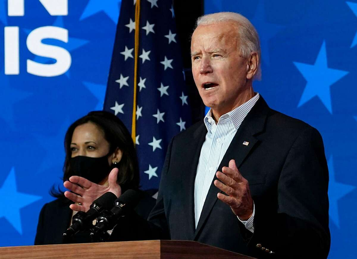 Joe Biden and Kamala Harris at the Queen theater in Wilmington, Del. in November. The Biden administration has signaled a friendlier stance toward immigration and foreign work permits.