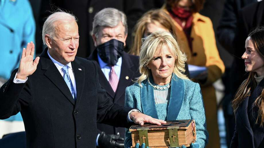 Joe Biden is sworn in as the 46th president of the United States on Wednesday, Jan. 20, 2021. Photo: Washington Post Photo By Jonathan Newton / The Washington Post