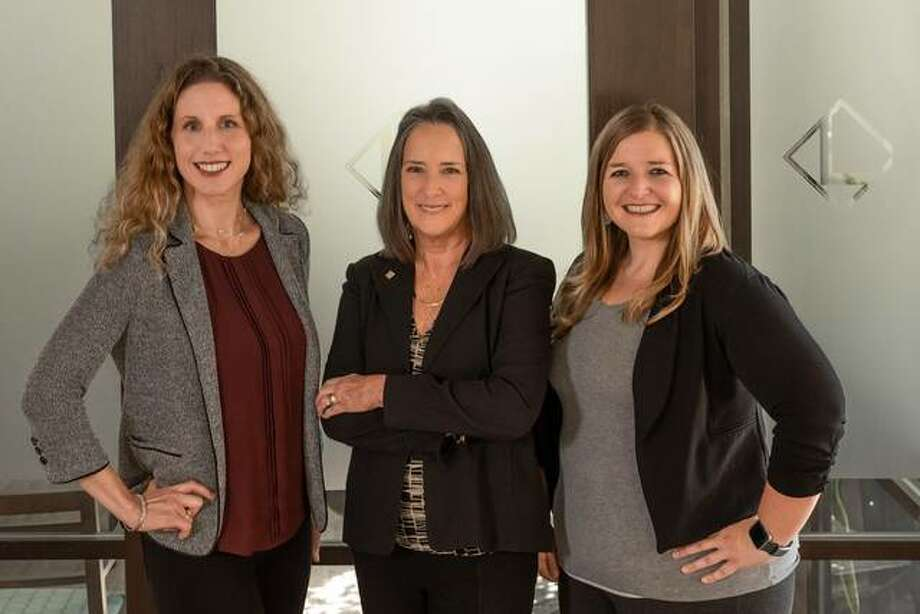 Louer Facility Planning, Inc. is marking 25 years in business and announcing a leadership transition plan. Pictured from left are Yvette Paris, Jane Louer and April Grapperhaus. Photo: Kerry Smith|For The Intelligencer