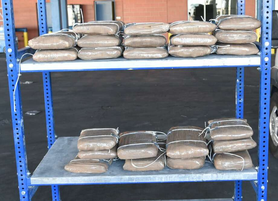 U.S. Customs and Border Protection officers seized these 140.46 pounds of meth at the World Trade Bridge. The contraband had an estimated street value of $2.8 million. Photo: Courtesy Photo /U.S. Customs And Border Protection
