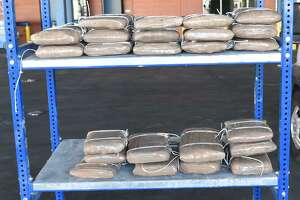 U.S. Customs and Border Protection officers seized these 140.46 pounds of meth at the World Trade Bridge. The contraband had an estimated street value of $2.8 million.