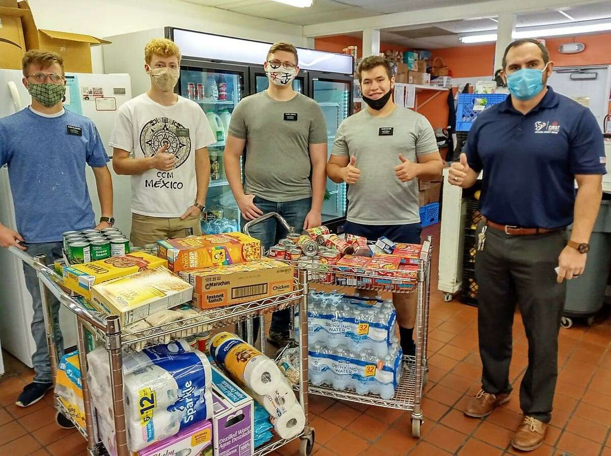 Cypress Assistance Ministries received help from members of Community of Faith and First Community Credit Union during the COVID-19 pandemic