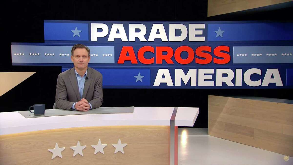 UNSPECIFIED - JANUARY 20: In this screengrab, Tony Goldwyn hosts the Virtual Parade Across America on January 20, 2021. Following the presidential inauguration of Joe Biden, the Virtual Parade Across America features celebrities and performances from across the country. (Photo by Handout/Biden Inaugural Committee via Getty Images)