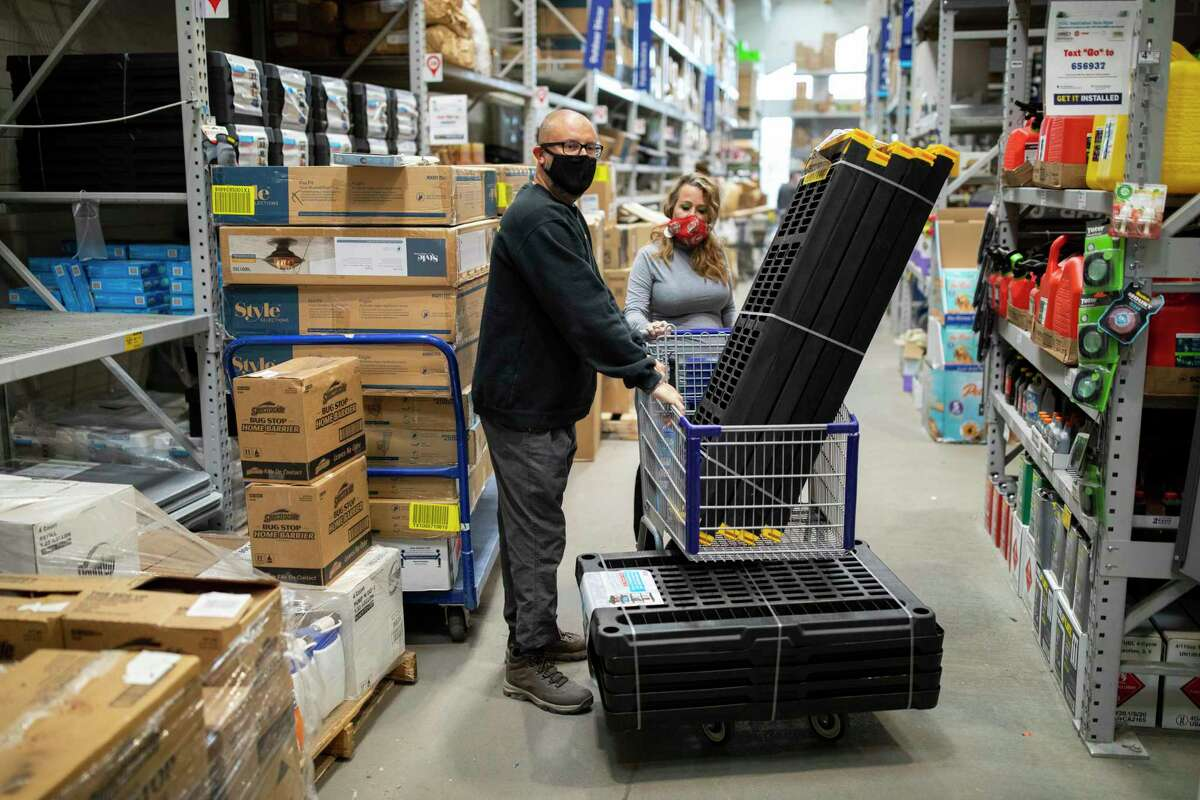 U.S. Army Command Sgt. Maj. (Retired) William Willie Apodaca-Fisk shops with his wife, Victoria Fisk, at a local hardware store, Thursday, January 14, 2021, in Las Cruces, N.M.