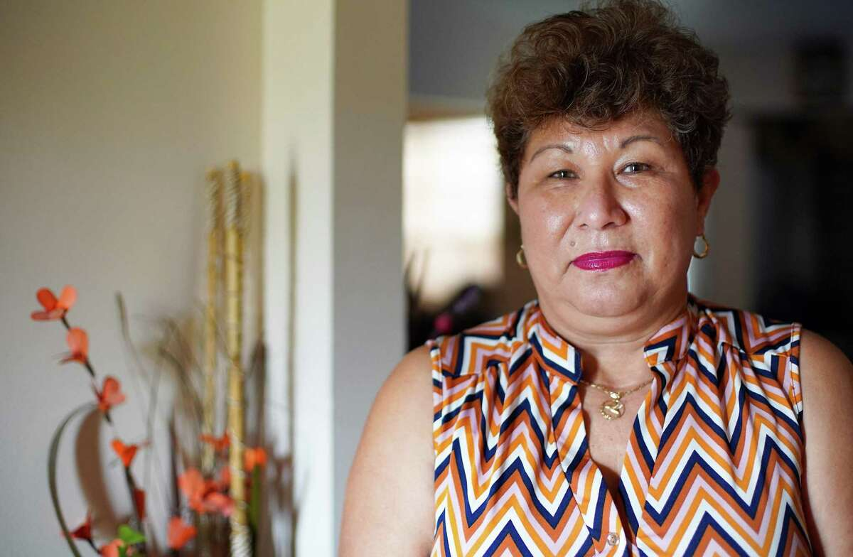 Angela Hernandez at her home in Houston on Wednesday, Jan. 20, 2021. Hernandez, has temporary protected status, could benefit from an immigration proposal by newly elected U.S. President Biden if passed by Congress.