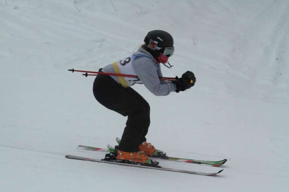 Addy Witkowski races the giant slalom course at Caberfae on Jan. 19. (News Advocate file photo)