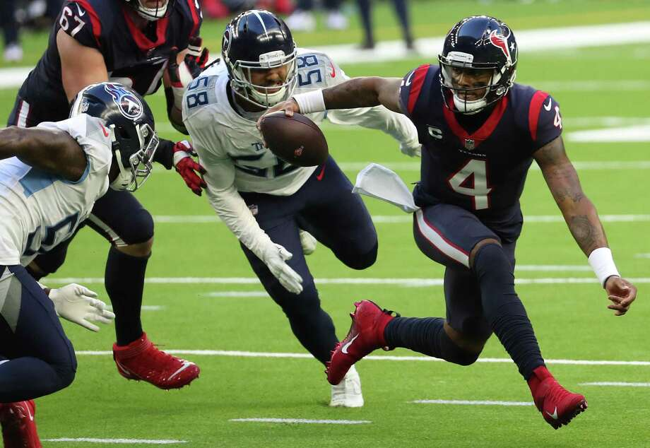 Anyone wanting Deshaun Watson's thoughts has found him to be as elusive off the field as on it. Photo: Brett Coomer, Houston Chronicle / Staff Photographer / © 2021 Houston Chronicle