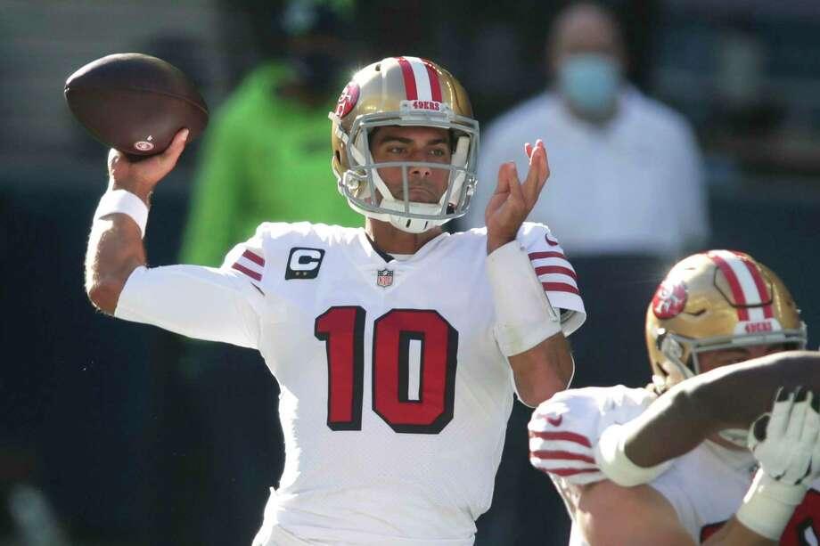 49ers quarterback Jimmy Garoppolo has a no-trade clause. Photo: Scott Eklund, FRE / Associated Press / Copyright 2020 The Associated Press. All rights reserved.