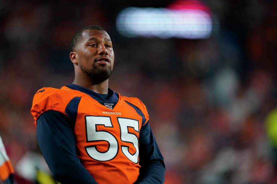 Broncos linebacker Bradley Chubb is one of Denver's big assets. Photo: Jack Dempsey, FRE / Associated Press / Copyright 2019 The Associated Press. All rights reserved