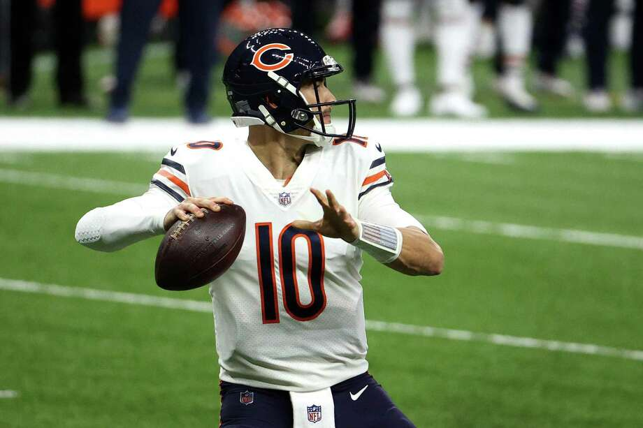 Mitchell Trubisky was drafted ahead of both Patrick Mahomes and Deshaun Watson. Photo: Chris Graythen, Staff / Getty Images / 2021 Getty Images