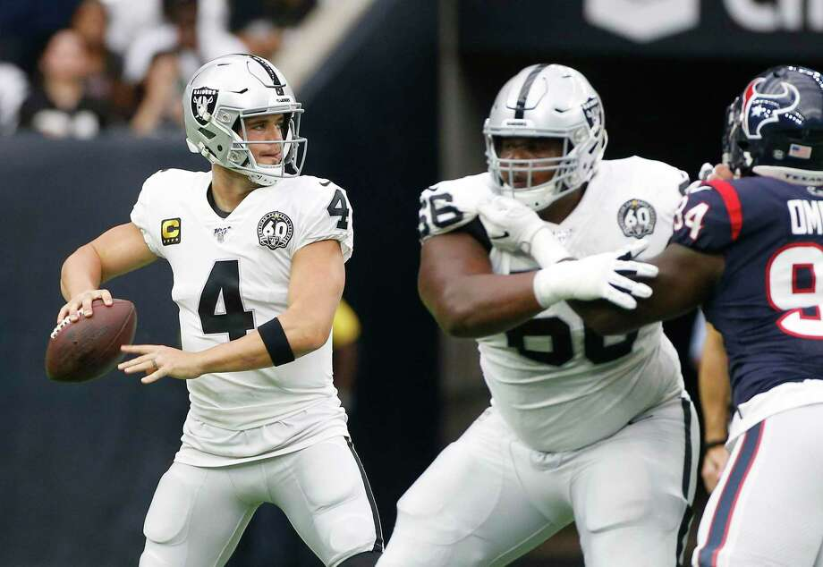 The Texans have had a Carr at quarterback once in their history but the Raiders could make Derek Carr available. Photo: Elizabeth Conley, Houston Chronicle / Staff Photographer / © 2018 Houston Chronicle