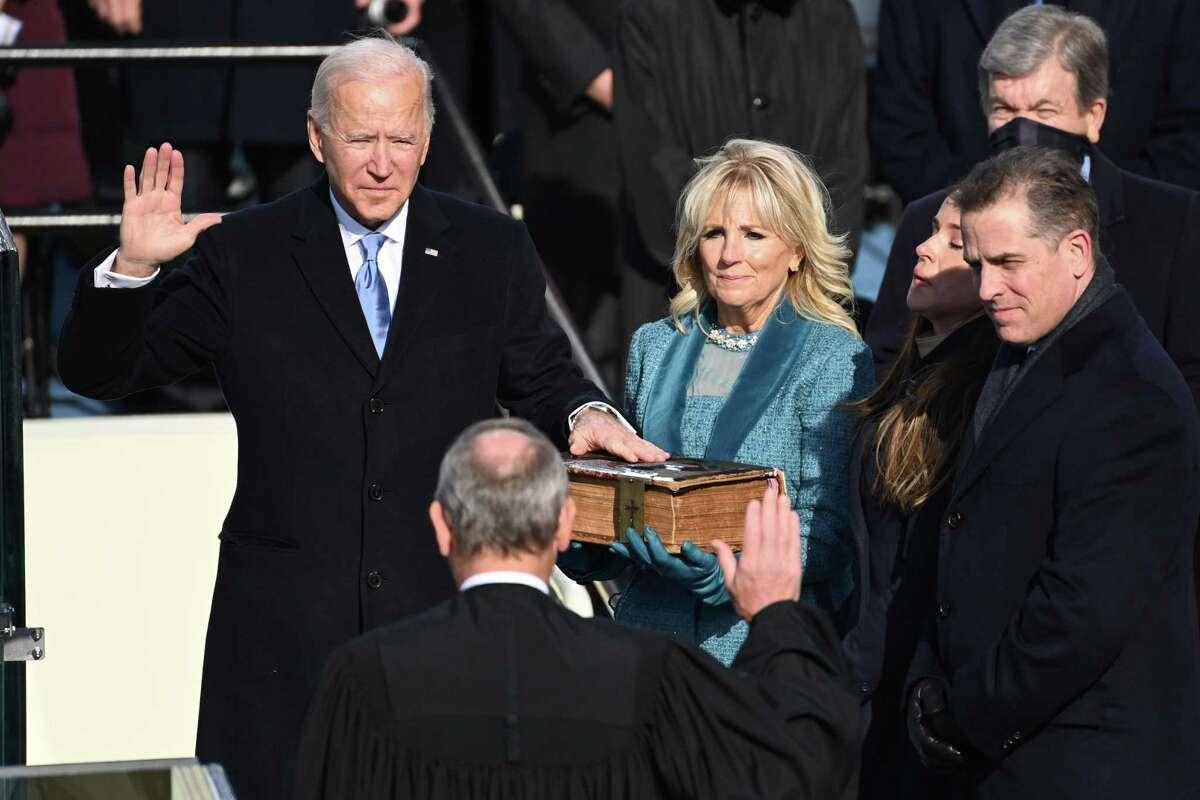 Joe Biden al asumir la presidencia de Estados Unidos frente al Capitolio en Washington, el 20 de enero del 2021.