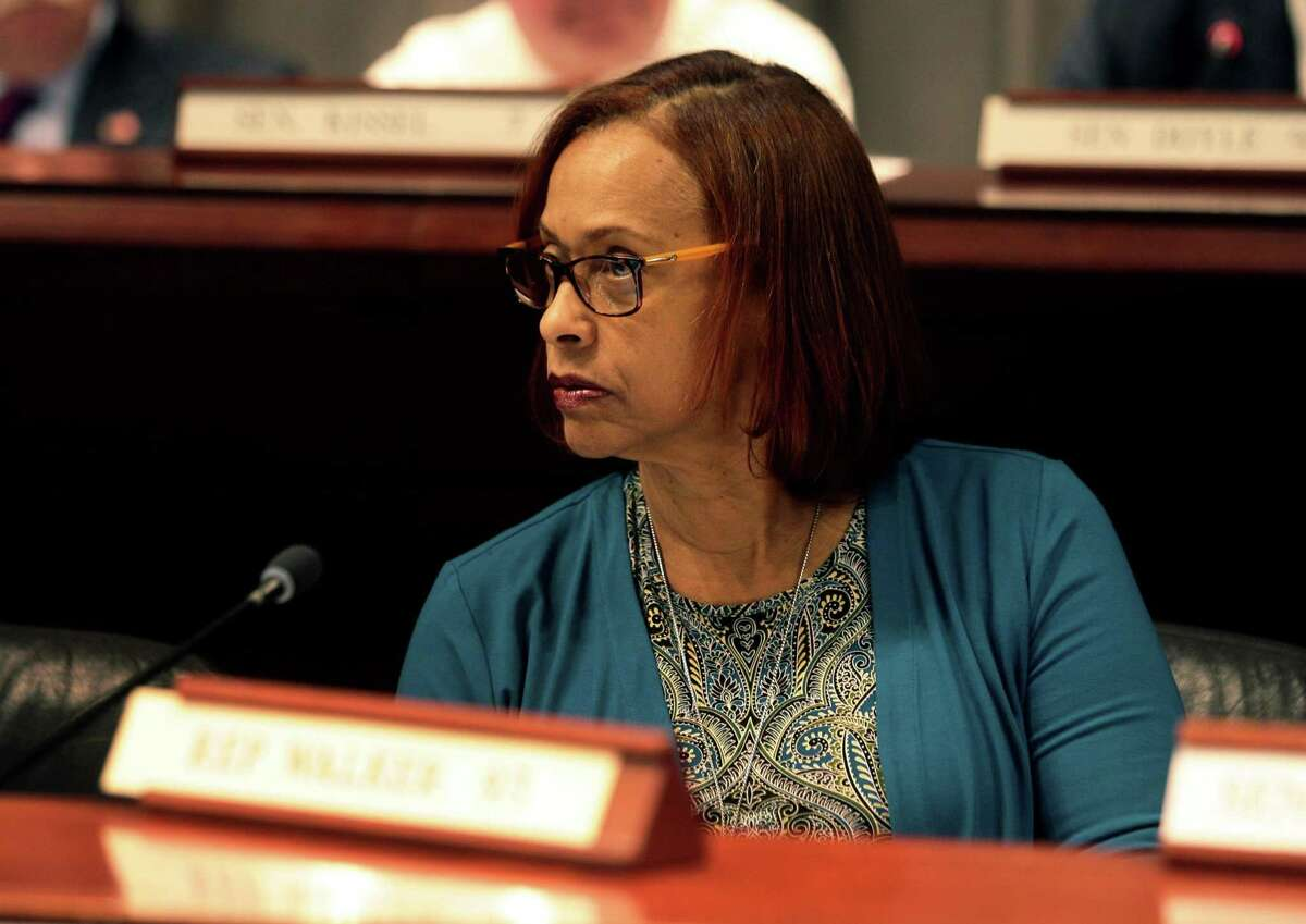 State Representative Toni E. Walker, (D-New Haven) attends a Judiciary Committee meeting in Hartford, Conn., on Tuesday Apr. 3, 2018.