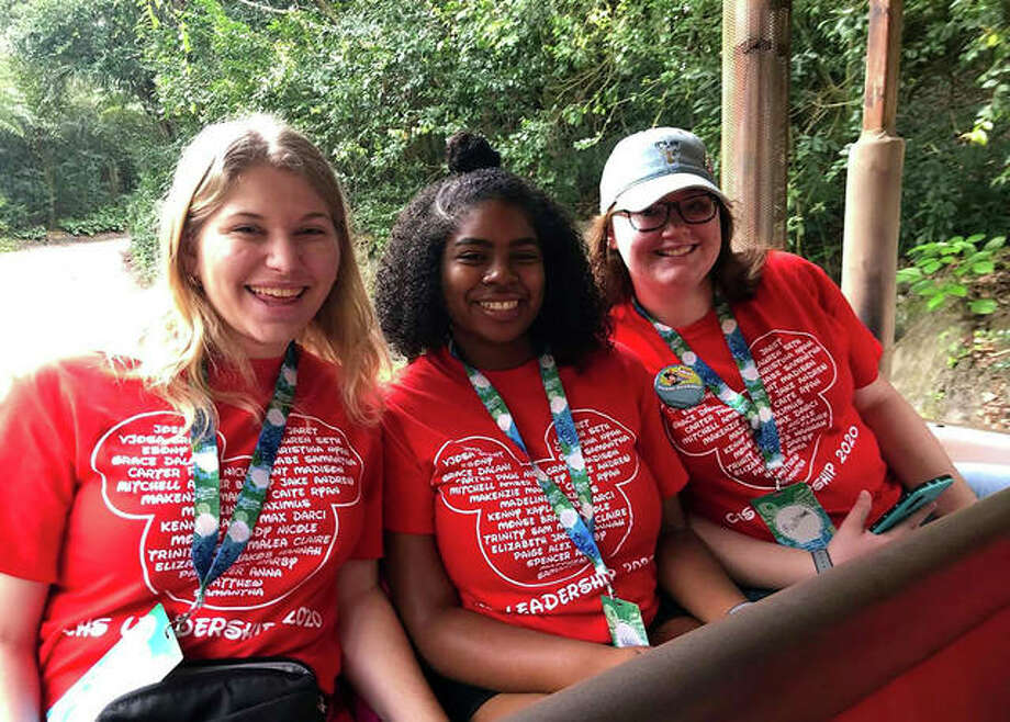 These three Collinsville students enjoying their time at Disney World last year as a culminating trip to Disney's Youth Education Series. Photo: Courtesy Of Kyle Gordon