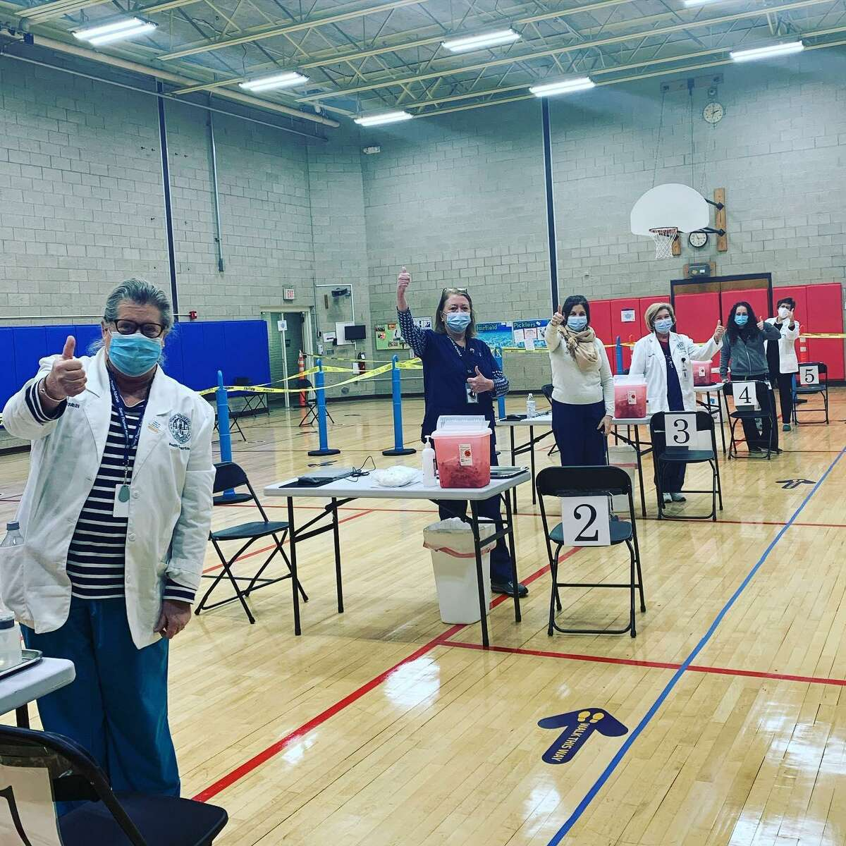 A Fairfield Health Department vaccination clinic on Jan. 7, in which approximately 1,850 people were vaccinated.