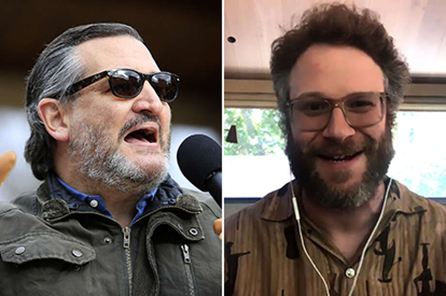 Texas Senator Ted Cruz and actor Seth Rogen got into a Twitter feud. Photo: Icon Sportswire/Icon Sportswire Via Getty ImagesNBC/NBCU Photo Bank Via Getty Images