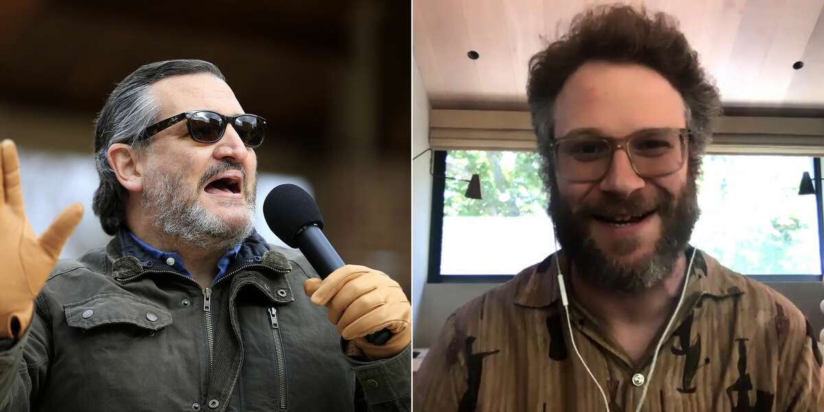 Seth Rogen continues to call Ted Cruz a fascist while on