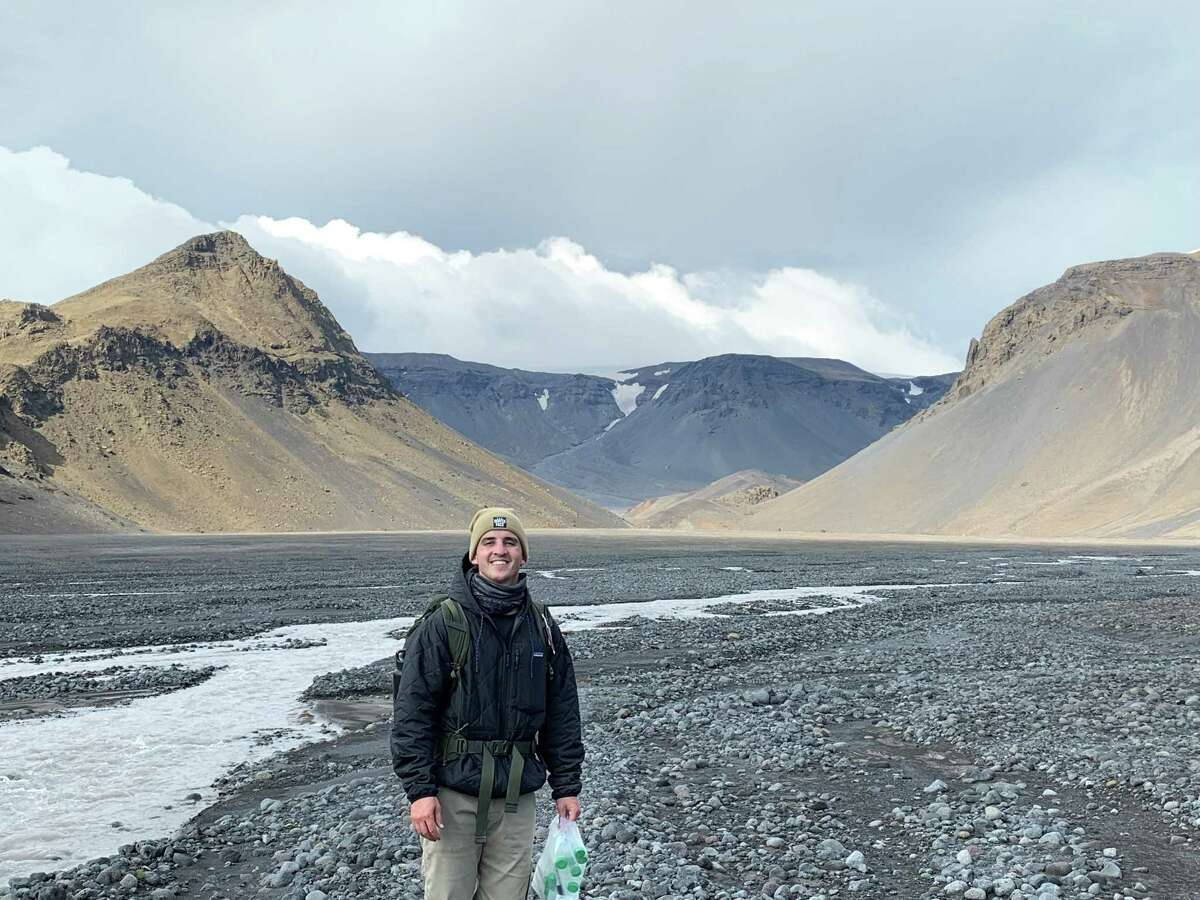 Michael Thorpe is pictured in Iceland in 2019. Thorpe led a study that found Gale Crater on Mars once had a climate similar to southwest Iceland, where temperatures generally remain below 38 degrees.