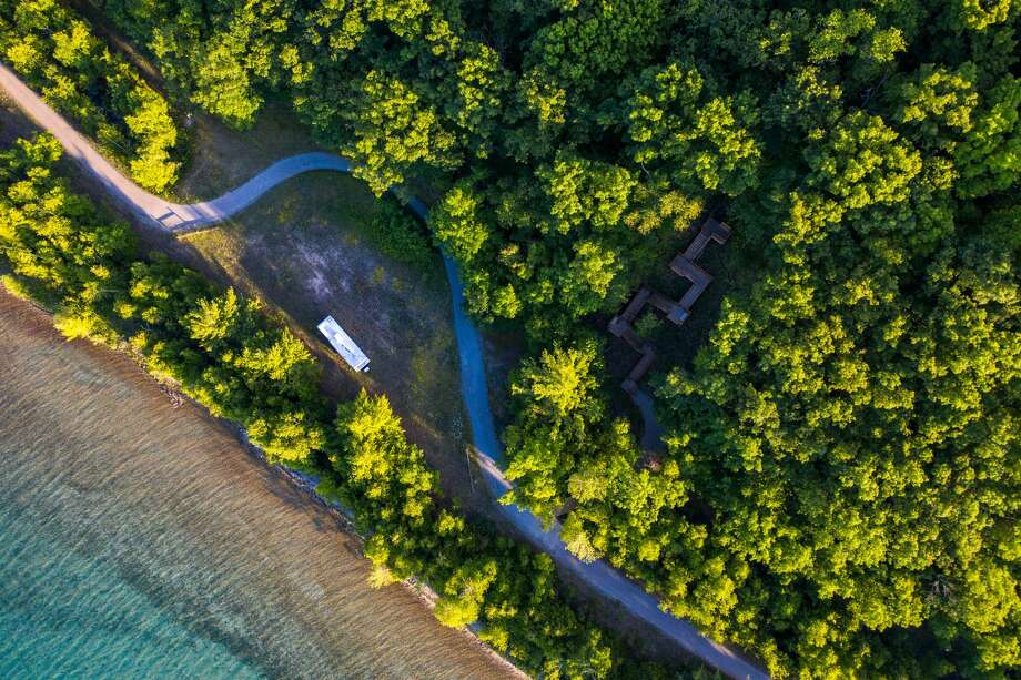 An aerial view of the Railroad Point Natural Area, which will soon be one continuous preserve after a Natural Resources Trust Fund Grant made possible the purchase of the final inholding separating into two pieces. (Courtesy Photo) Photo: (Courtesy Photo)