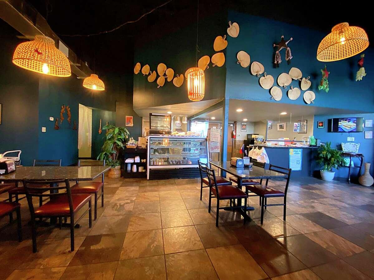 The restaurant side of Sari-Sari Filipino Restaurant Market & Bakery serves an extensive menu of Filipino food.