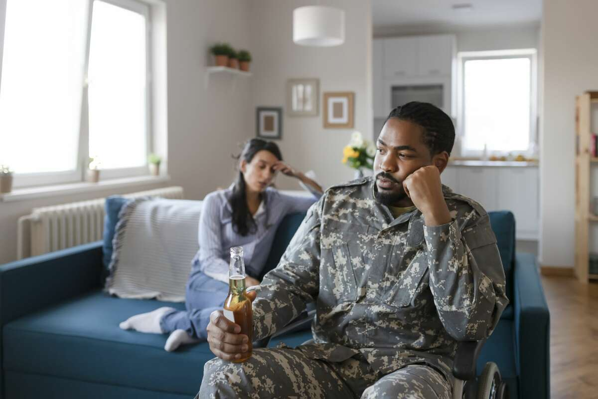 A married military couple is having problems.