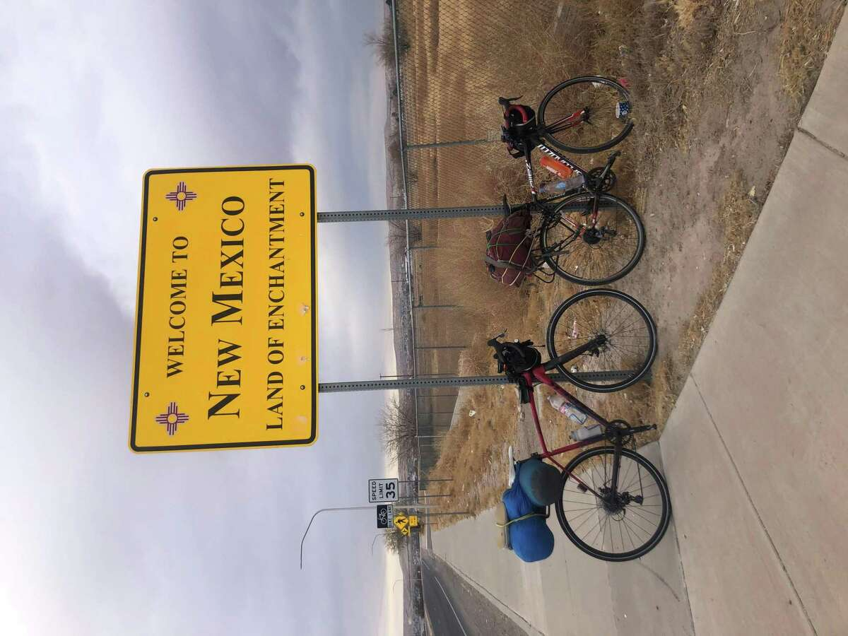 Danbury native, Ryan Fox and his partner, Matthew Mcgowen making a cross country bike trip from Albany, New York to Albany, Oregon.