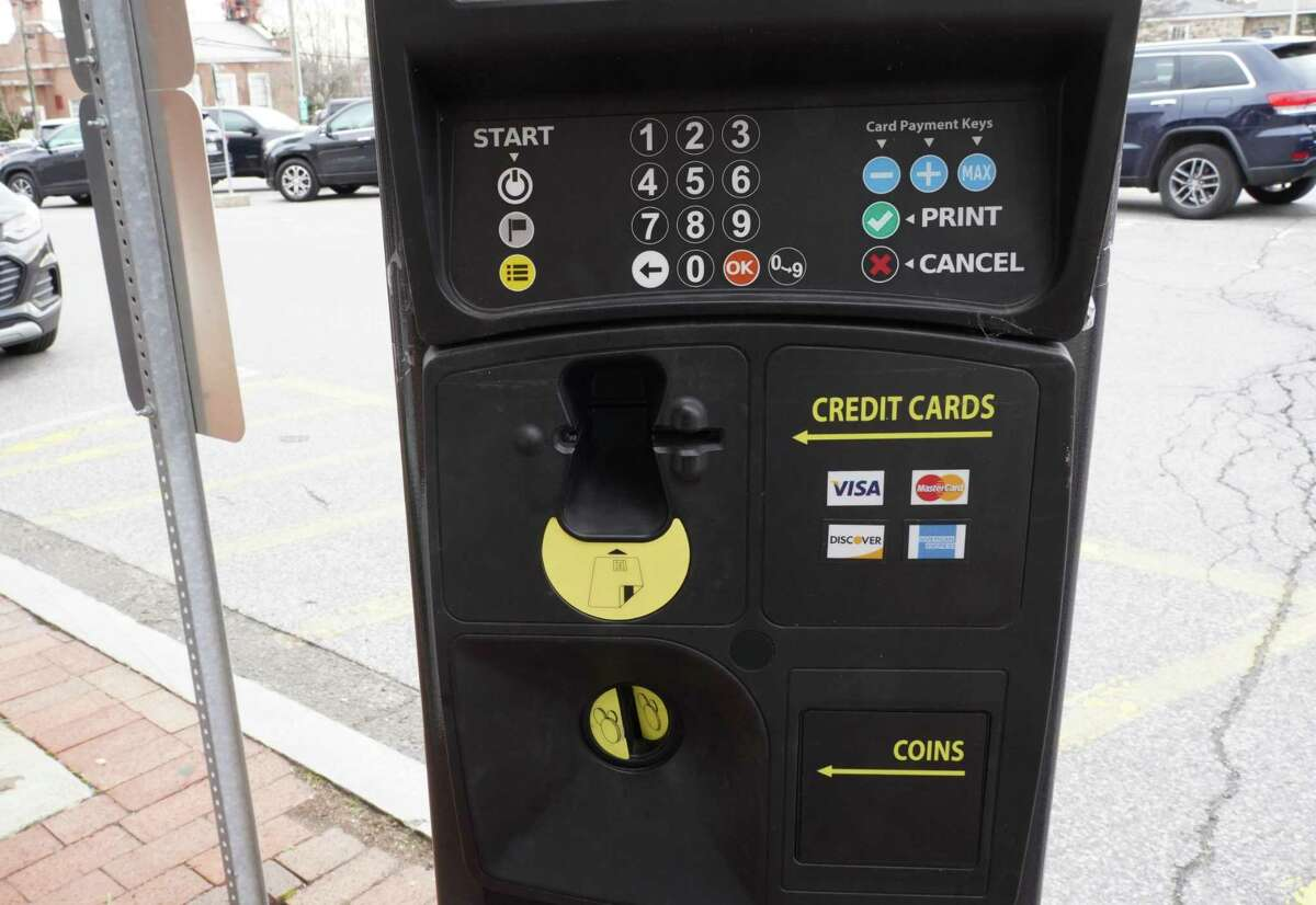To make it more convenient for consumers to pay for parking, New Canaan has signed a contract with PayByPhone for the village. This meter on Morse Court was photographed Thursday, Jan. 21.