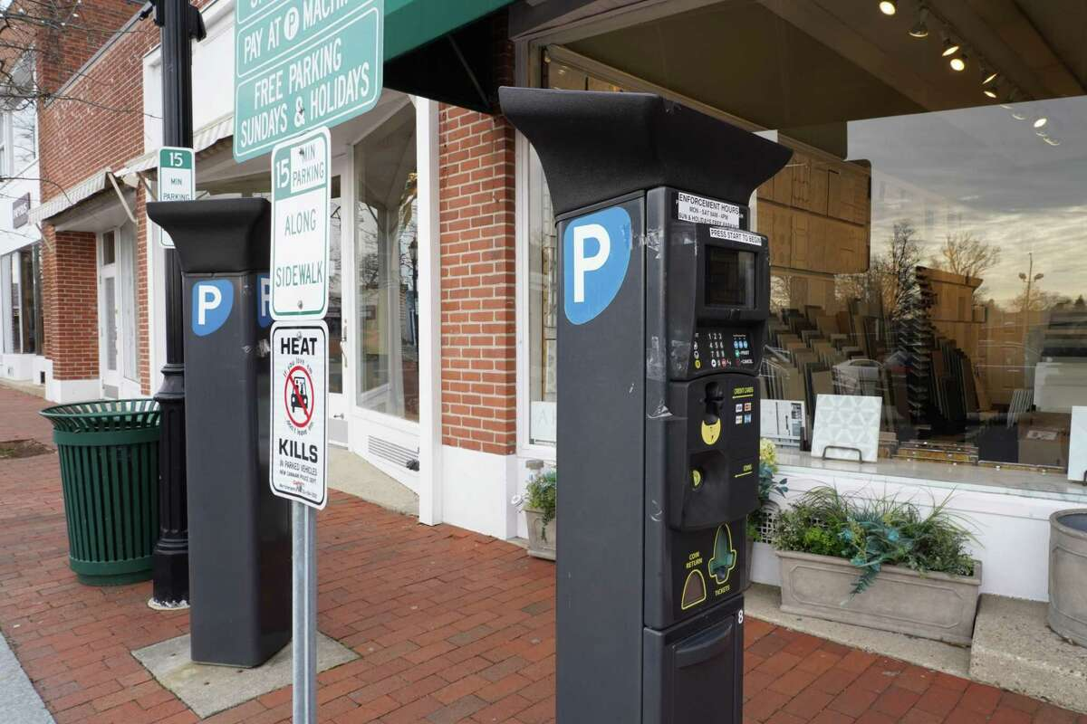 After New Canaan signed a five year contract with PayByPhone, some assume consumers will get fewer parking tickets. This meter on Morse Court was photographed Thursday, Jan. 21.
