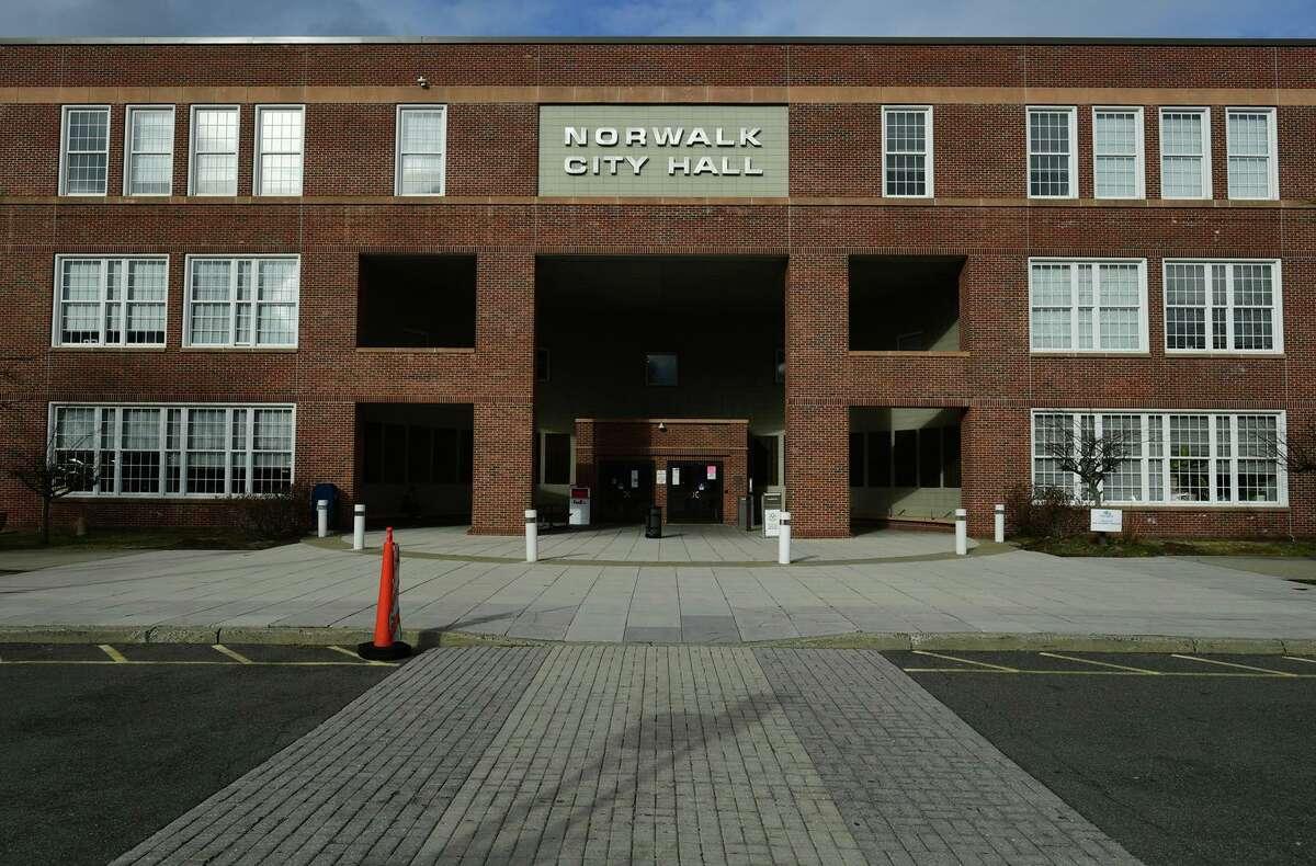 Norwalk City Hall, Tuesday, January 19, 2021, in Norwalk, Conn.