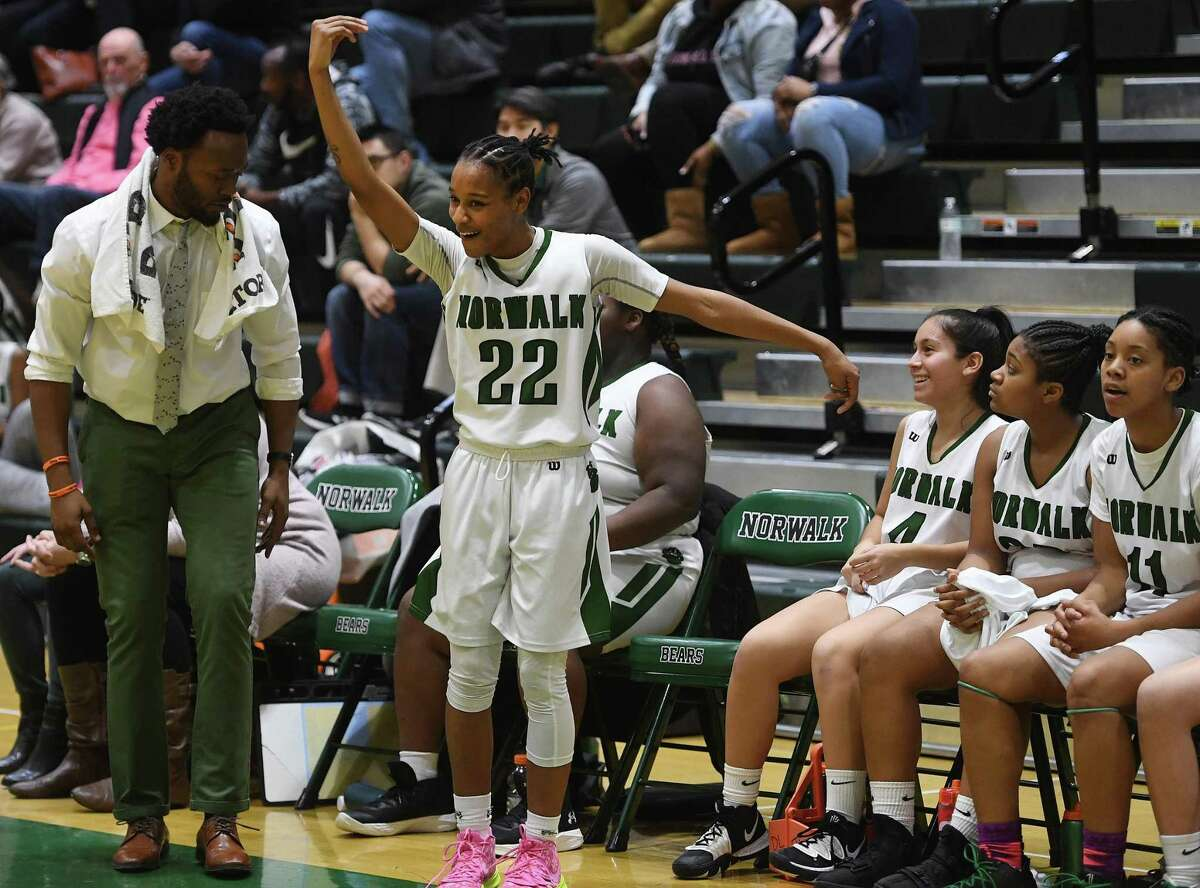 Norwalk defeats Stamford in girls basketball at Norwalk High School in Norwalk, Conn. on Monday, February 10, 2020. Norwalk announced students will be able to resume winter sports practices for the first time since coronavirus hit on Jan. 22, 2020.
