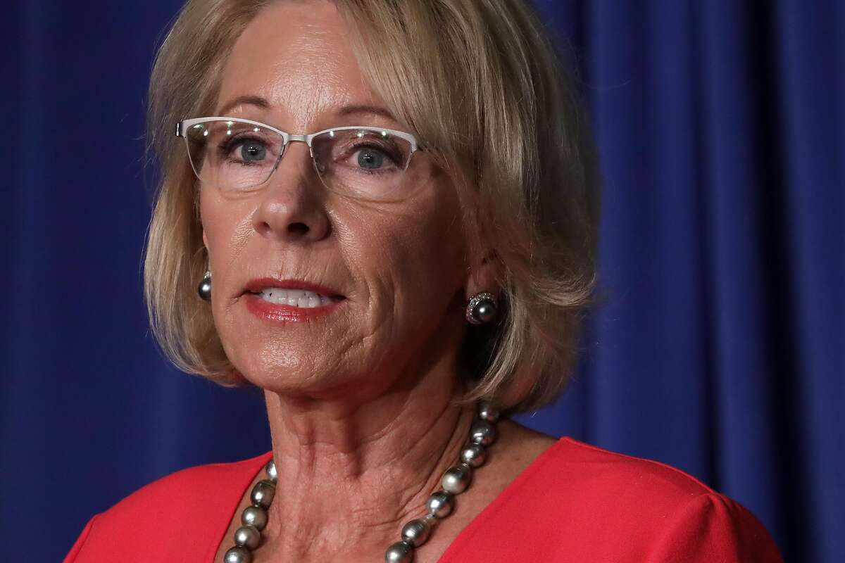 Ex-Education Secretary Betsy DeVos opposed a court ruling on LGBTQ protections in schools.