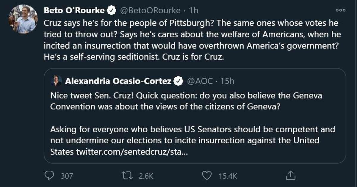 Beto described Cruz as a