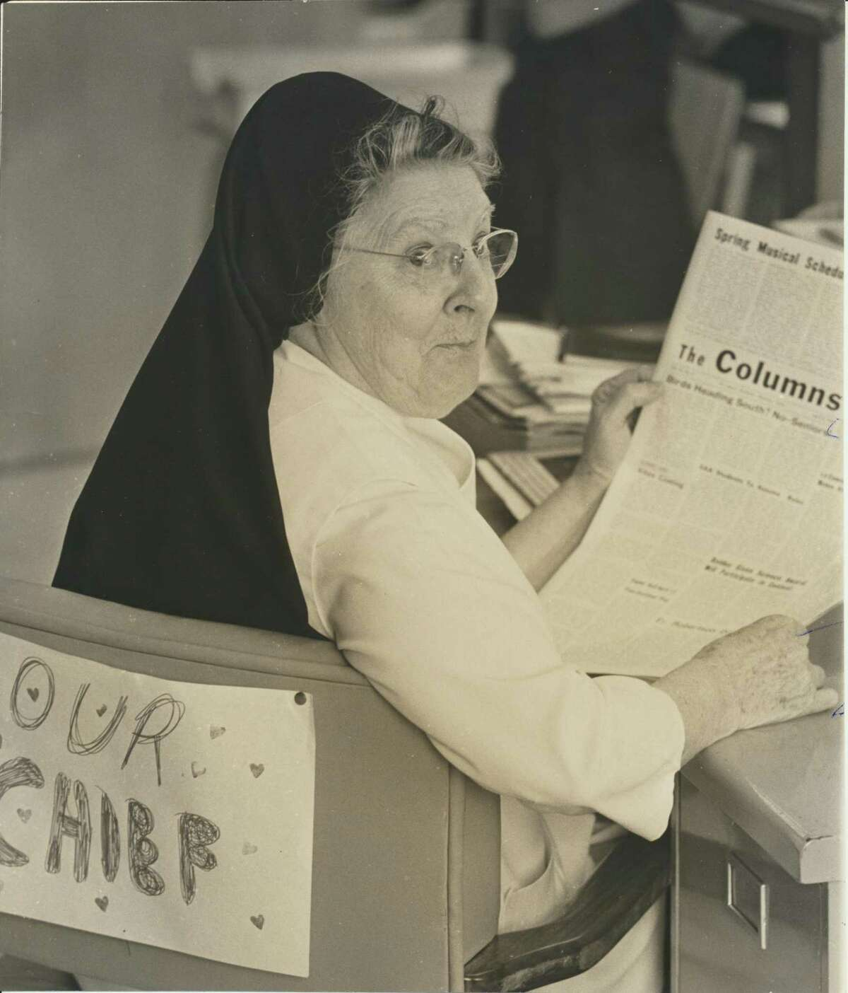 Sister Hilary Beck O.P. (1902-1999) washistorian, science and journalism teacher at St. Agnes Academy on Bellaire -and a mentor to Chronicle columnist Joy Sewing.